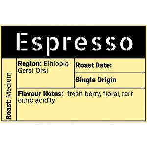 Espresso (Ethiopia Gersi Orsi) Coffee - Evolve Coffee Moose Jaw